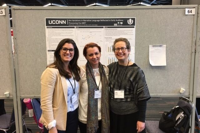 Graduate students and Dr. Naigles at INSAR conference